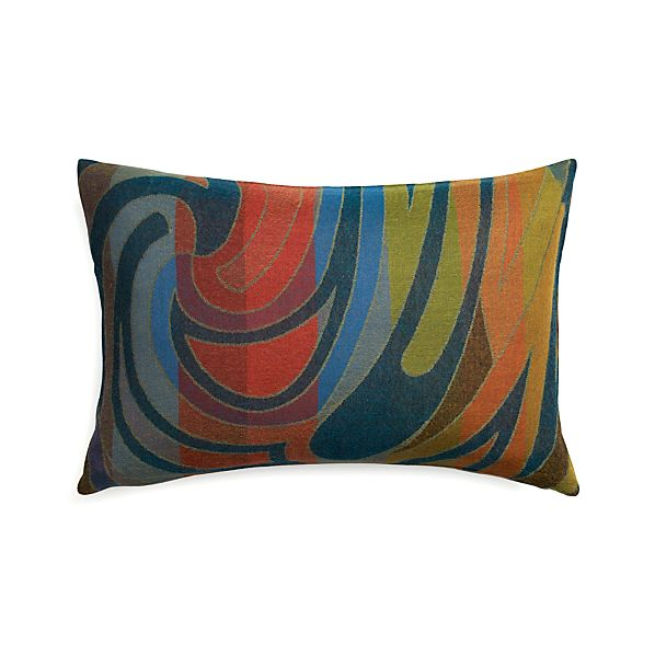 "Fresco 24""x16"" Pillow with Feather-Down Insert"