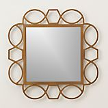 Fretwork Brass Square Wall Mirror