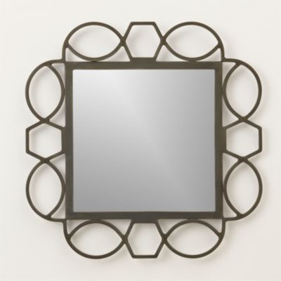 Fretwork Warm Zinc Mirror