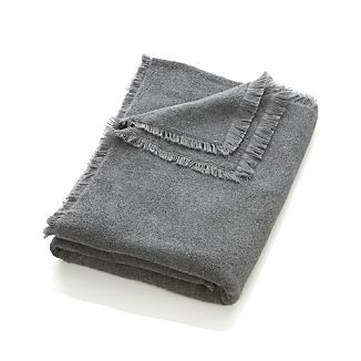 Fringe Grey Bath Sheet