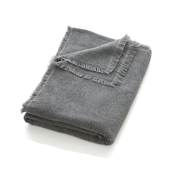 Fringe Grey Bath Sheet