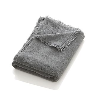 Fringe Grey Bath Towel