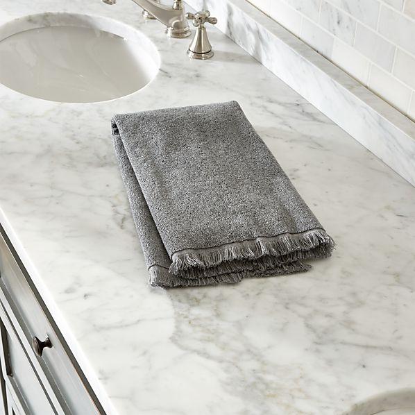 Fringe Grey Hand Towel