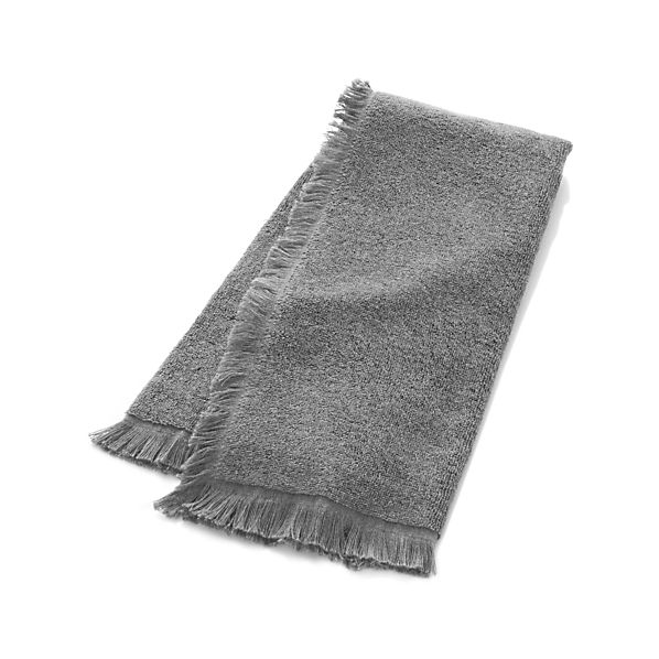 Fringe Grey Hand Towel