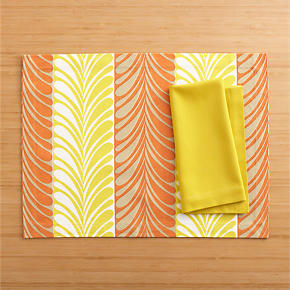 Frolos Orange Placemat and Cotton Yellow...