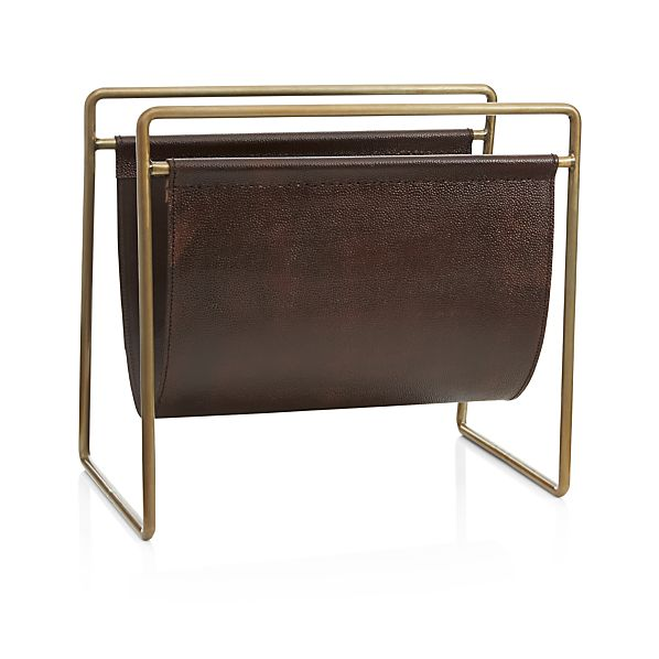 Galen magazine rack in home accents crate and barrel