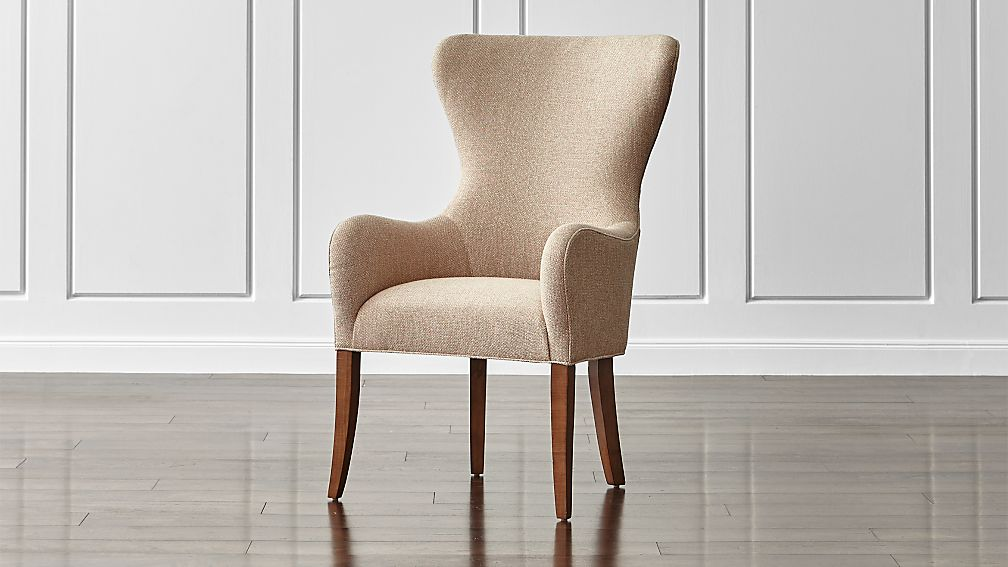Galloway Wingback Dining Chair Tobias: Fennel