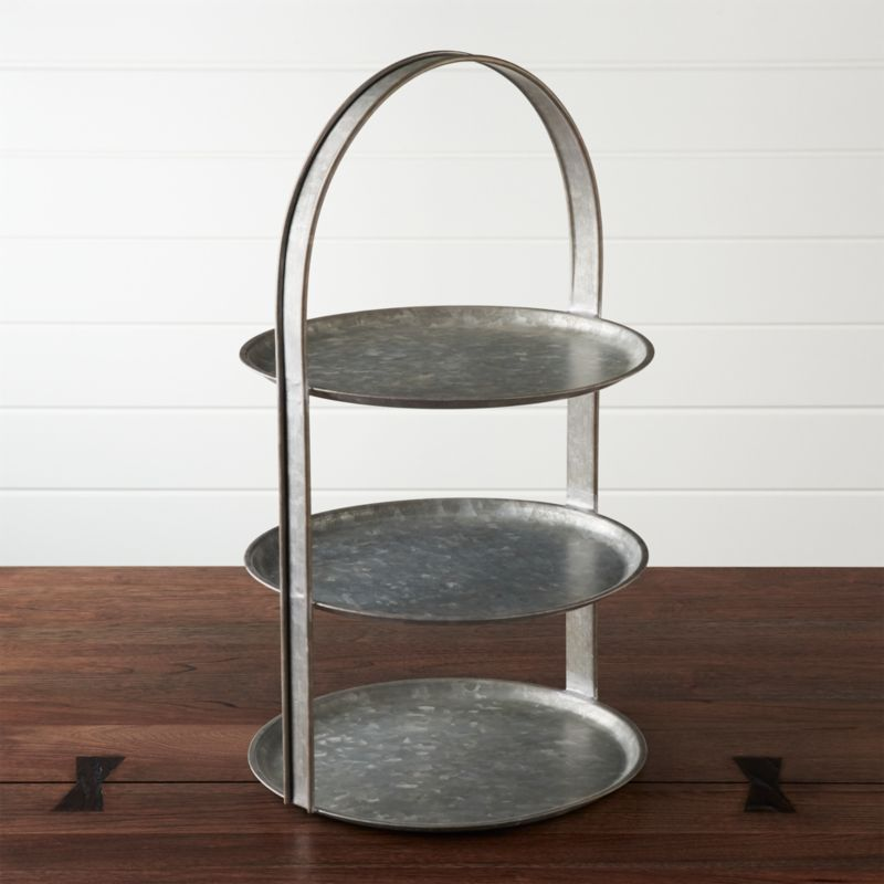 Galvanized 3 Tier Server Crate And Barrel