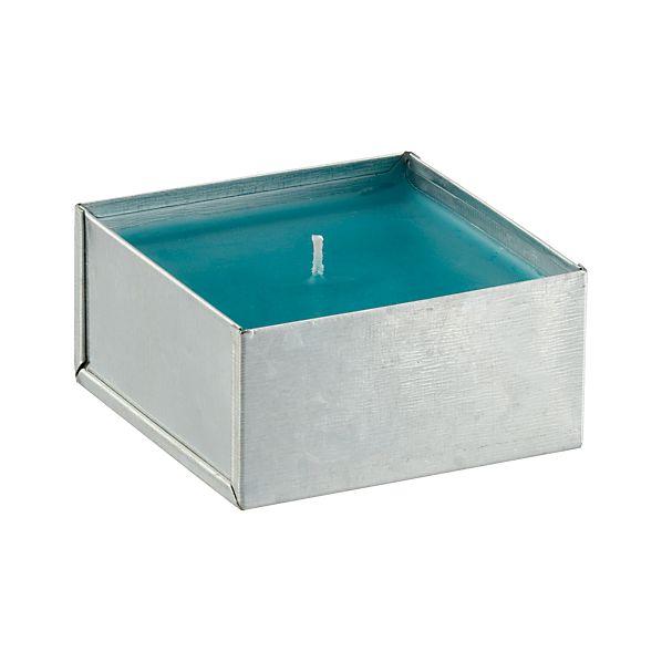 Galvanized Blue Citronella Pot