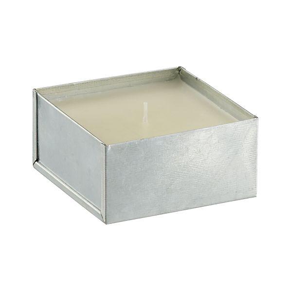 Galvanized White Citronella Pot