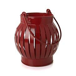 Galvanized Red Small Lantern