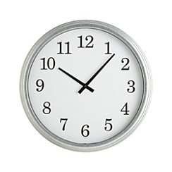 "Galvanized 22"" Wall Clock"
