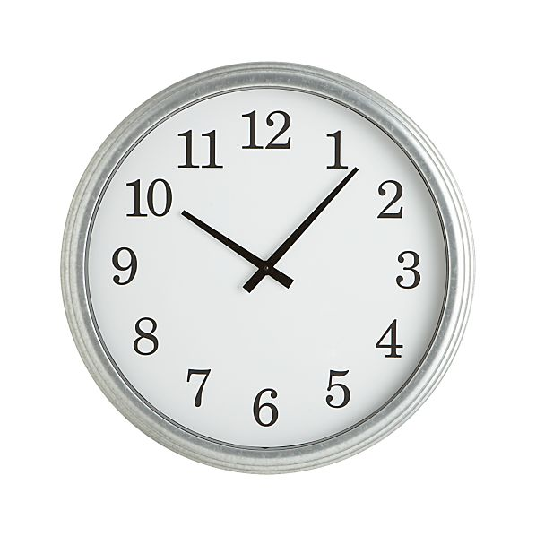 Galvanized 22 Quot Wall Clock