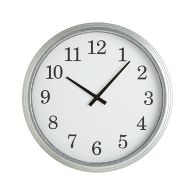 Galvanized Wall Clock 22