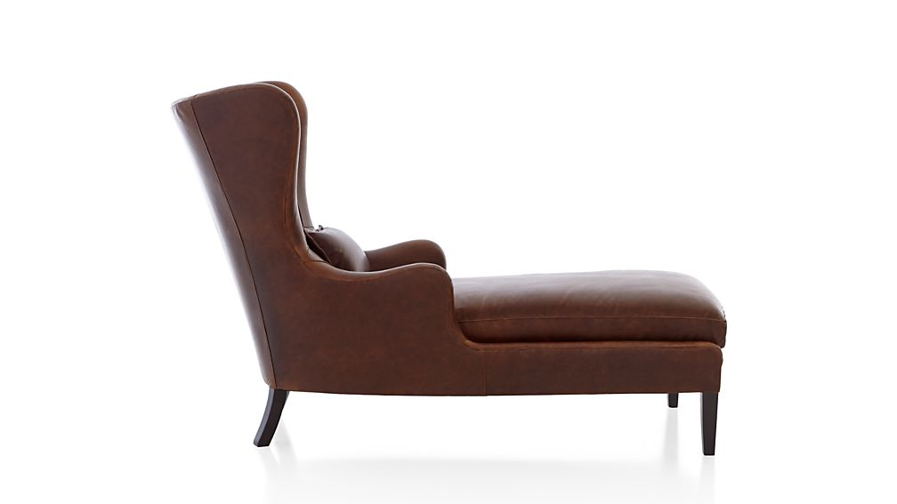 Garbo Leather Chaise Lounge