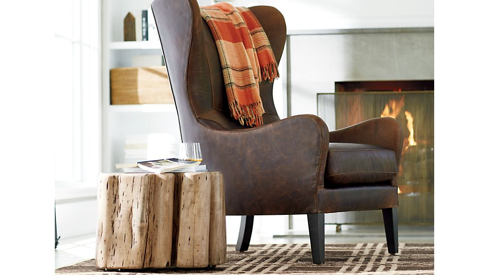 Garbo Leather Wingback Chair