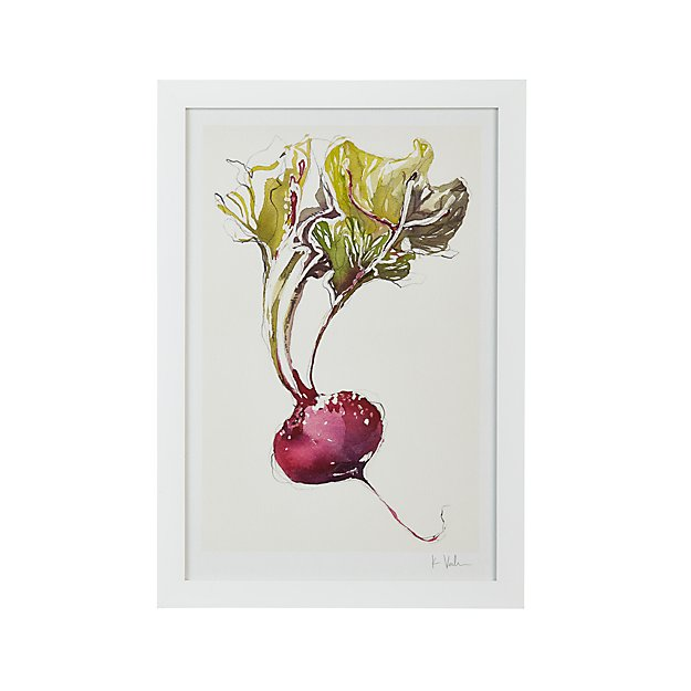 Crate And Barrel Outdoor Wall Decor : Garden beet print crate and barrel