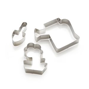 3-Piece Garden Cookie Cutter Set