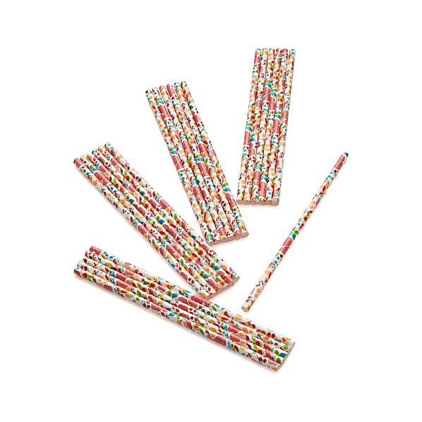 Set of 24 Garden Party Straws