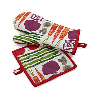 Garden Veggies Mitt and Pot Holder