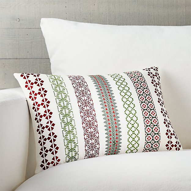 """Garland 18""""x12"""" Pillow with Feather-Down Insert"""