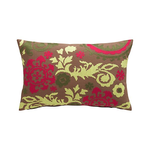 "Gemma 20""x13"" Pillow with Feather-Down Insert"