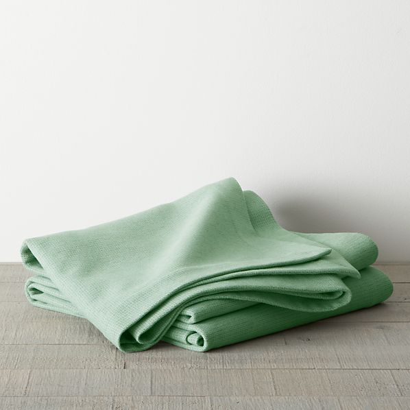 Geneva Green Twin Blanket