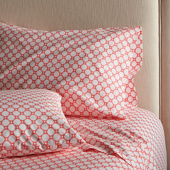 Genevieve Coral Full Sheet Set
