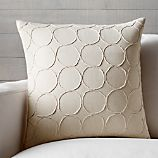 "Genna 20"" Pillow with Feather-Down Insert"