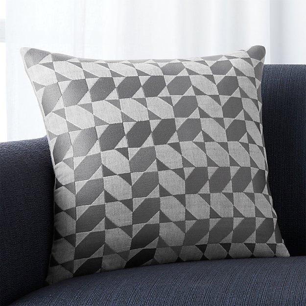 "Genton Grey 18"" Pillow with Down-Alternative Insert"