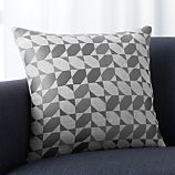 """Genton Grey 18"""" Pillow with Feather-Down Insert"""