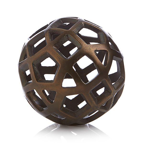 Geo Small Decorative Metal Ball