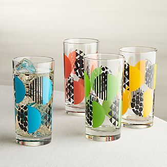 Set of 4 Geo Dot Tumblers