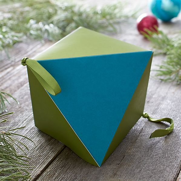 Large Green and Blue Geometric Box