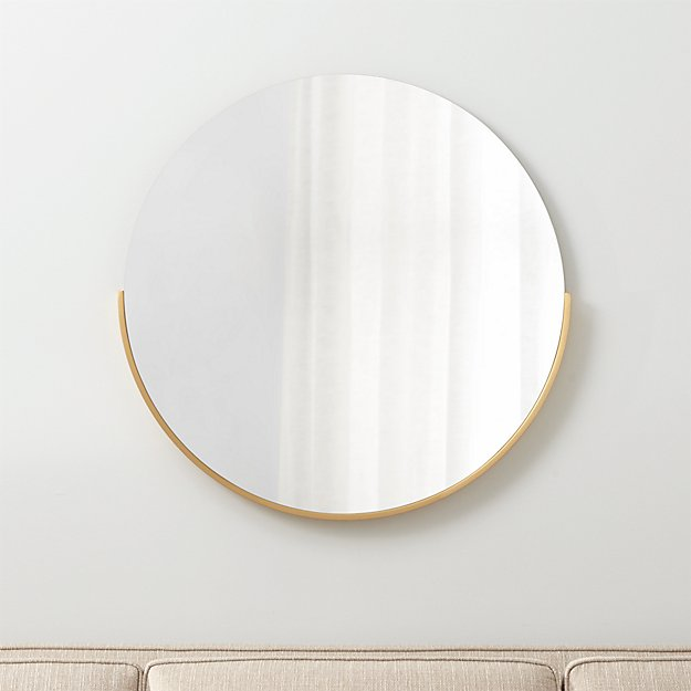 Gerald Small Round Wall Mirror Crate And Barrel