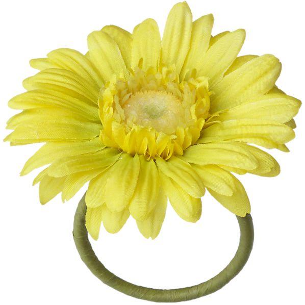 Gerber Daisy Yellow Napkin Ring