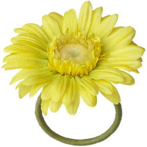 Gerber Daisy Yellow Napkin Ring