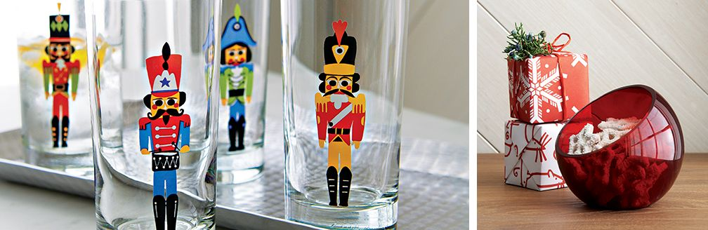 Set of Four Nutcracker Glasses