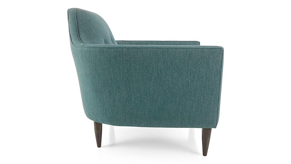 Gia chair brennan teal crate and barrel for Teal reading chair