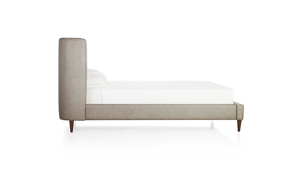 Gia Upholstered King Bed Brennan Grey Crate And Barrel