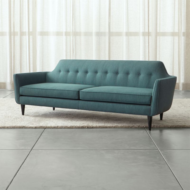 Gia Modern Blue Tufted Sofa