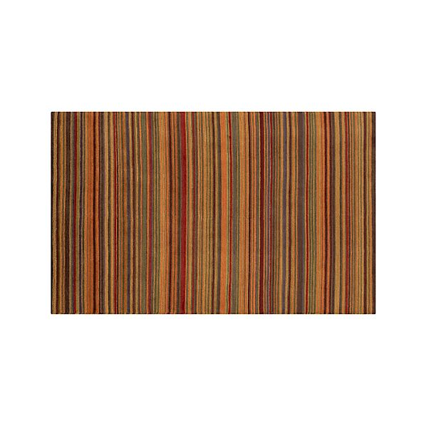Gianni Rust Hand Knotted Wool 5'x8' Rug