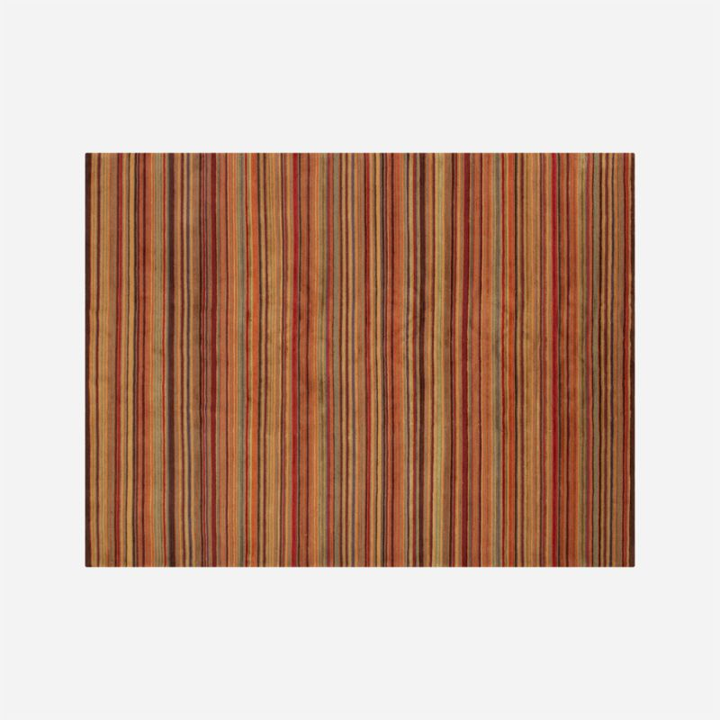 Gianni Rust Hand Knotted Wool 10 X14 Rug Crate And Barrel