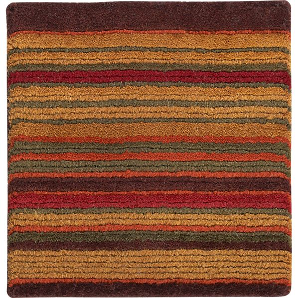 "Gianni Rust Hand Knotted Wool 12"" sq. Rug Swatch"