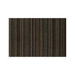 Gianni Teal Blue Striped Wool 6'x9' Rug