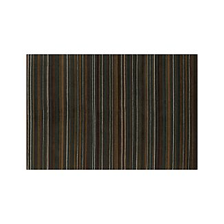 Gianni Teal Blue Striped Wool Rug