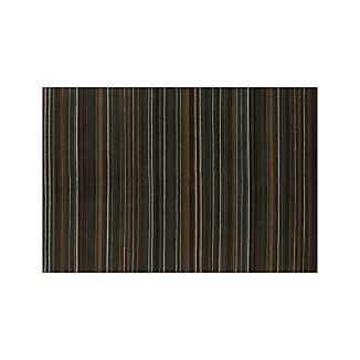 Gianni Teal Blue Striped Wool Rug