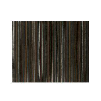 Gianni Teal Blue Striped Wool 8'x10' Rug