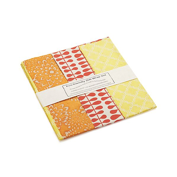 Orange Gift Wrap Set