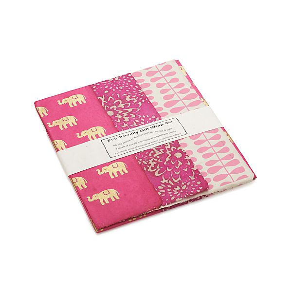 Pink Gift Wrap Set